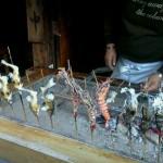 軒先で売っていた串焼き